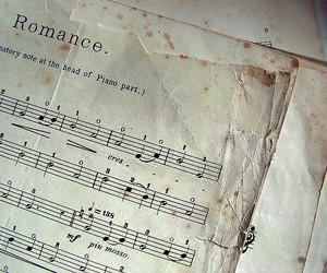 music, romance, and piano image