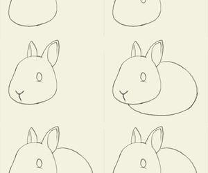 conejo, dibujo, and cute image