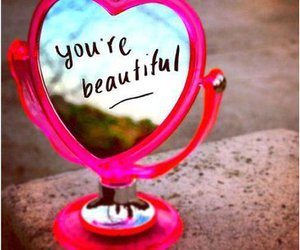 beautiful, mirror, and pink image