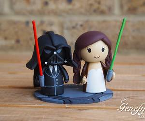 Darth Vader Groom And Bride With Pigtails On We Heart It