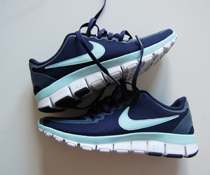 blue, nike, and fit image