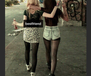 bad girls, best friend, and graffiti image