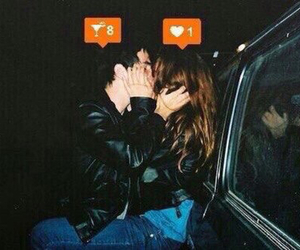 love, kiss, and drunk image