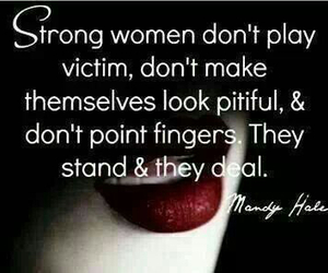 woman, quote, and strong image