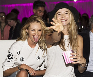 Behati Prinsloo, candice swanepoel, and friends image