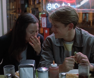 couple, good will hunting, and matt damon image