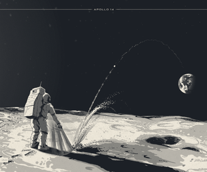 astronaut, decor, and drawing image