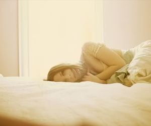 bed, girl, and pretty image