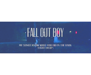 fall out boy, music, and light'em up image
