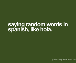 hola and text image