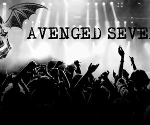 avenged sevenfold, b&w, and black and white image