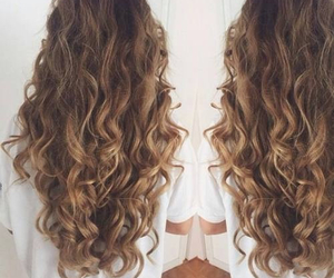 hair, curly, and brown image