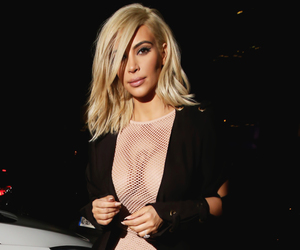 fashion, kim kardashian, and hair image