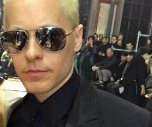 the new joker, jared leto new color hair, and paris fashion week 2015 image