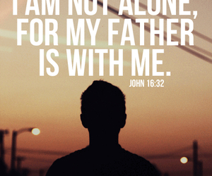 god, jesus, and not alone image