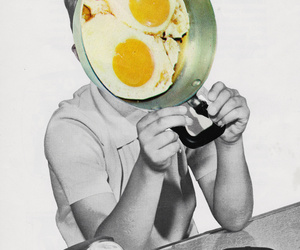 black and white, breakfast, and Collage image