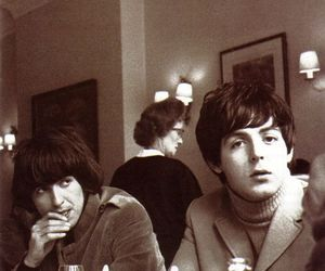 george harrison, Paul McCartney, and beatles image