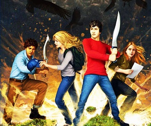 cross over, percy jackson, and annabeth chase image