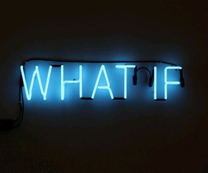 what if, blue, and light image