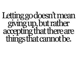 quote, text, and letting go image