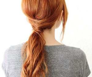 hair, ponytail, and ginger image