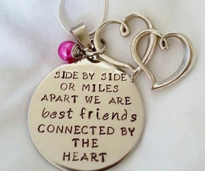 best friends, necklace, and friends image