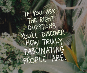 quote, people, and fascinating image