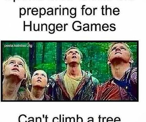 hunger games, funny, and tree image
