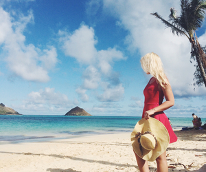 babe, beach, and blonde image
