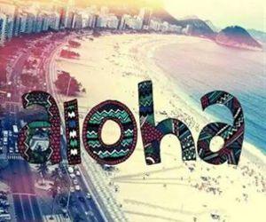 Aloha and beach image