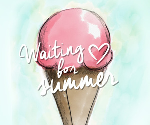 summer, ice cream, and wallpaper image