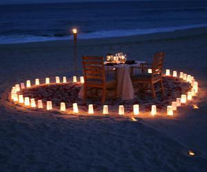love, beach, and romantic image