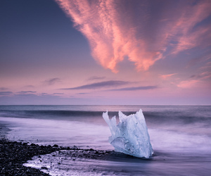 ice, clouds, and landscape image