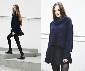 black, tights, and booties image