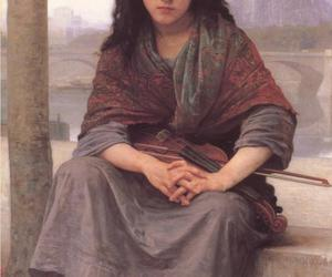 bohemian, canvas, and girl image