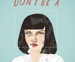 pulp fiction, art, and mia wallace image