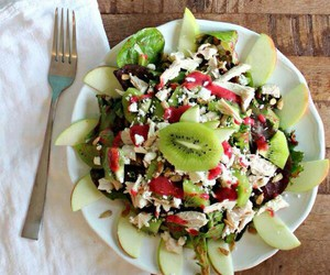 salad, healthy, and food image