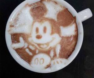 coffee, disney, and mickey mouse image