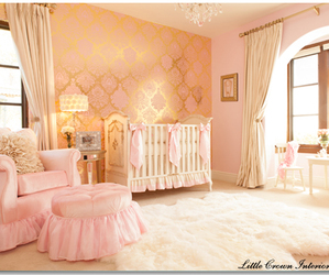 a beautiful baby room image