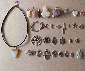 grunge, necklace, and indie image
