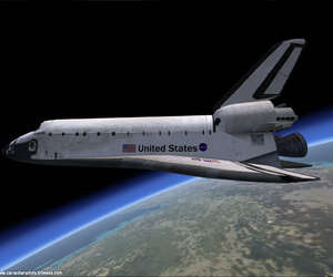 shuttle, space, and spaceshuttle image