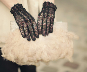 gloves, fashion, and lace image