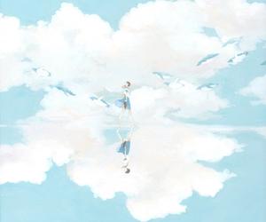 anime, sky, and art image