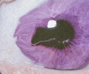 eye, purple, and grunge image