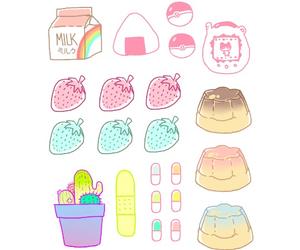 kawaii, cute, and strawberry image