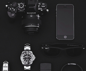 black, iphone, and camera image
