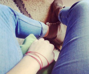 jeans, Timbaland, and bracellet image