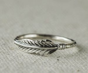 feather, ring, and silver image