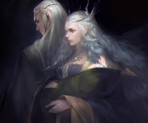thranduil, fantasy, and Legolas image