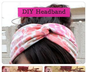 diy, headband, and hair image